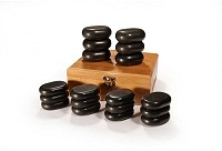Sibel Hot Stone Massagestein-Set mit 18 Basaltsteine